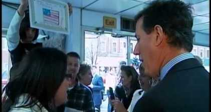 Santorum called Romney - by his own supporter