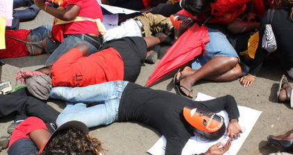 Sex workers protest police harassment in Nairobi