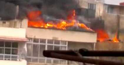 Shelling of Baba Amr in Homs in February 2012