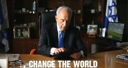Israel's Peres takes to Facebook and YouTube