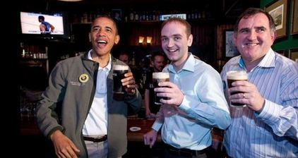 Obama marks St Patrick's Day with a pint of Guinness