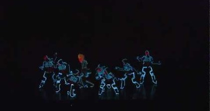 Japanese dance crew thrills with light wizardry