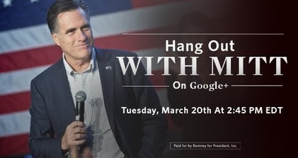 Romney holds an #AskMitt Google hangout as Illinois votes