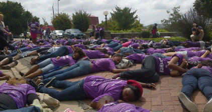 South African students highlight rape with #RUSilent protest