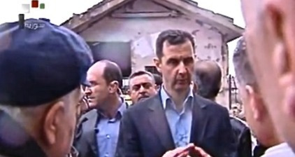 Assad tours Baba Amr neighborhood of Homs