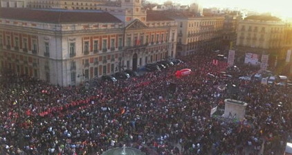 Spanish take to the streets in mass protest over government reforms