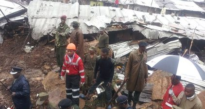 Deadly landslide buries residents of Nairobi slum