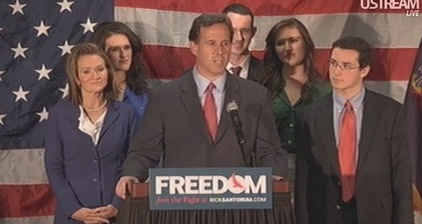 Rick Santorum suspends his presidential campaign
