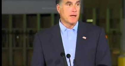 Romney attacks Obama from an empty factory closed under Bush