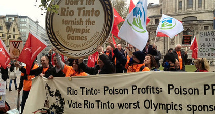 Campaign slams Olympic medal-makers Rio Tinto