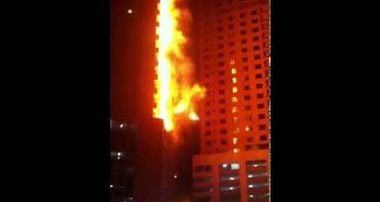 Lucky escape as fire engulfs Sharjah tower block