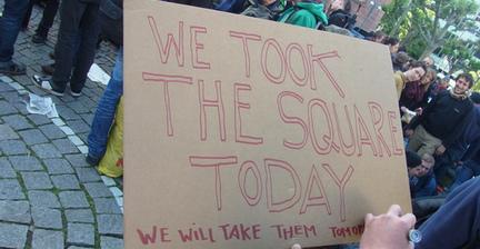 Blockupy protesters defy ban in Frankfurt