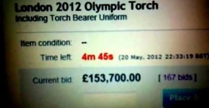 Torchbearers cash in on Olympic spirit