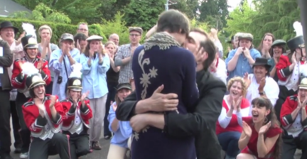 Lost for words: Boyfriend makes lip-dub marriage proposal