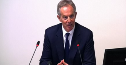 Security breach at Leveson Inquiry as heckler disrupts Blair testimony