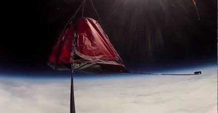 VIDEO: Base camp at 103,500 feet