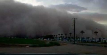 VIDEO: Driving into a dust storm