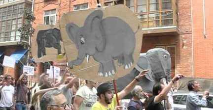 'Elefante' becomes symbol of protest in Valladolid