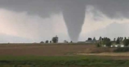 VIDEO: Never mind the tornado - watch out for the lightning!