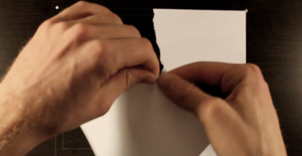 VIDEO: Dutch artist tears paper in video experiment