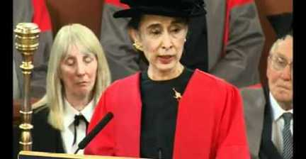 VIDEO: Aung San Suu Kyi recalls student days in speech at Oxford