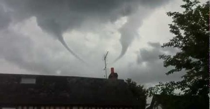 VIDEO: Double tornado in France
