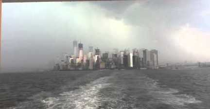VIDEO: NYC storm from Staten Island ferry