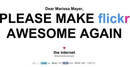 Dear Internet: Flickr responds to #dearmarissamayer request