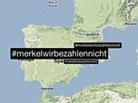 Spaniards tell Merkel they won't pay with #MerkelWirBezahlenNicht