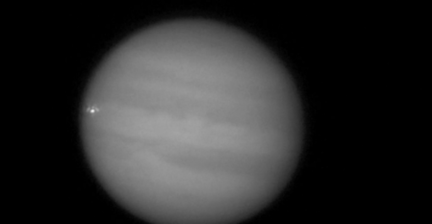 Amateur astronomer films object slamming Jupiter