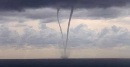 Two Waterspouts Form Off Ligurian Coast