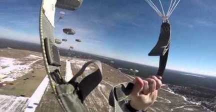 Video Shows What It's Like for a Paratrooper to Jump Out of a Plane